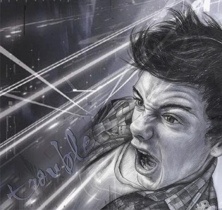 Saatchi online artist hb graphik pencil drawing trouble