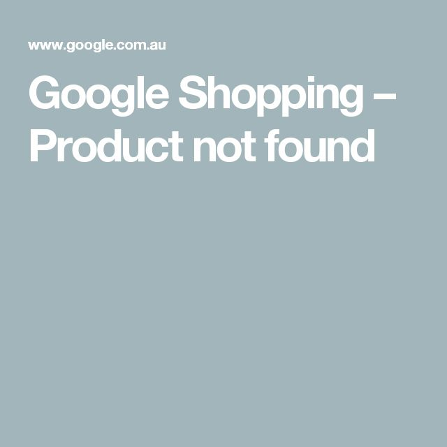 Google Shopping – Product not found