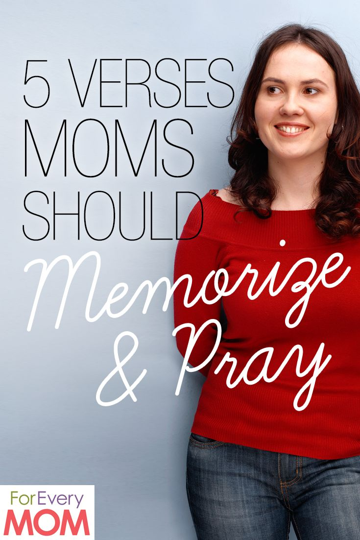 Fight for your kids by praying God's Word over them. I love these 5 verses moms should memorize and pray!