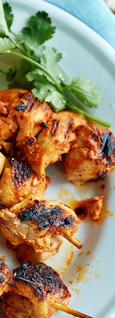 Brochettes de poulet tandoori
