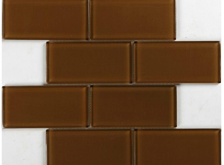 3x6 metro glas backsplash tegel keuken bad muur bruin tans glazen tegels douche metro kristalglas chocolade korting tegels(China (Mainland))