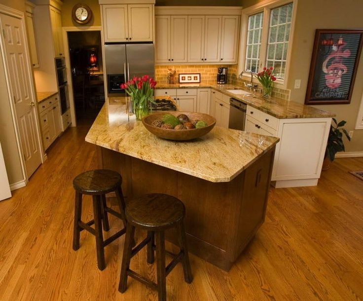 Different island shape if we want to extend out cabinetry for Different shaped kitchen island designs with seating