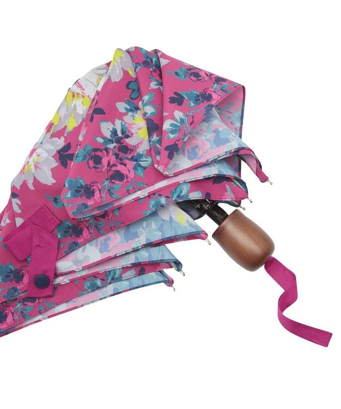 Joules Brolly in Pink Floral