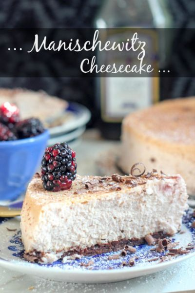 Manischewitz Cheesecake with Boozy Blackberries!