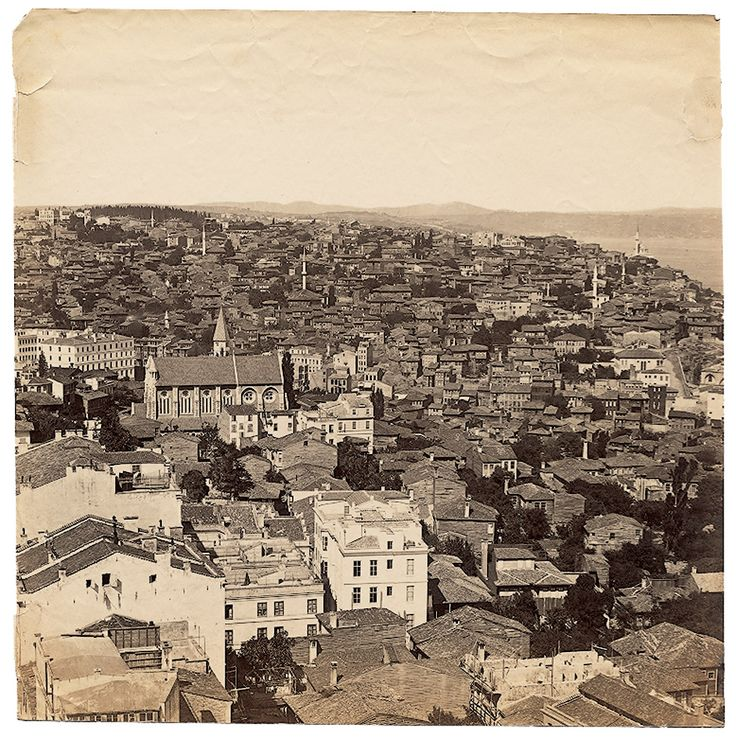 Galata Kulesi'nden Panorama - 2 Basile Kargopoulo, 1870'ler