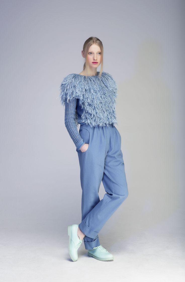 Mono Blue Sweater   Tvortz   NOT JUST A LABEL