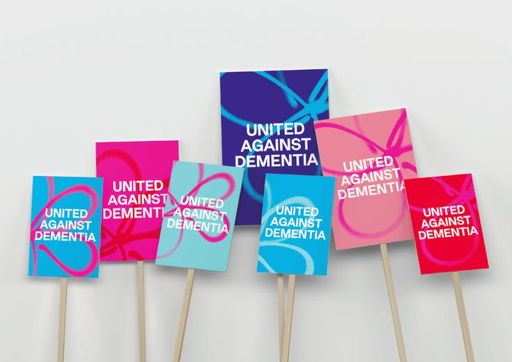 """A forget-me-not flower symbol – which is often used an emblem by dementia communities – now sits behind the logotype, with the new strapline """"United against dementia"""" underneath it."""