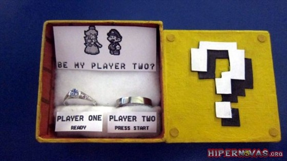 Hipernovas!: Pedido de casamento de uma fã de Super Mário! (07 Imagens)