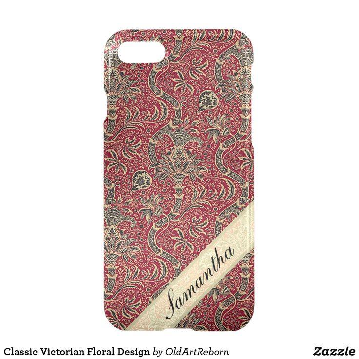Classic Victorian Floral Design iPhone 7 Case