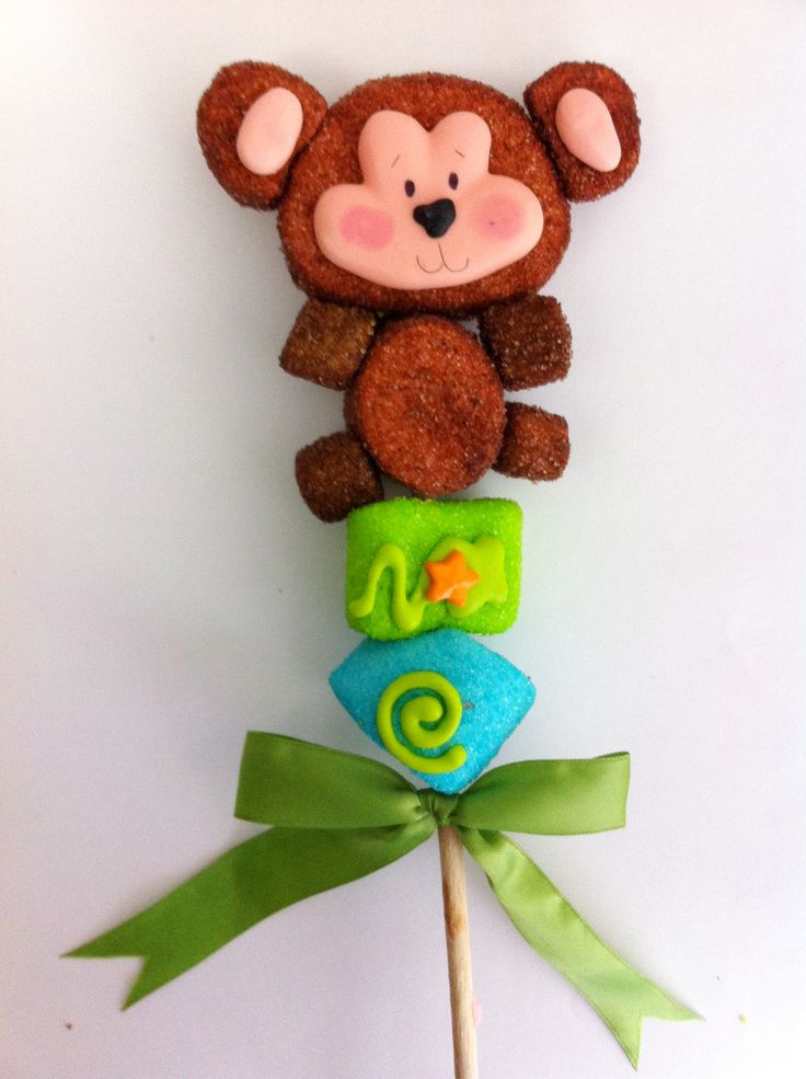 A marshmellow  MONKEY for baby shower.  Inspiration only, no link to buy or instructions/mdb