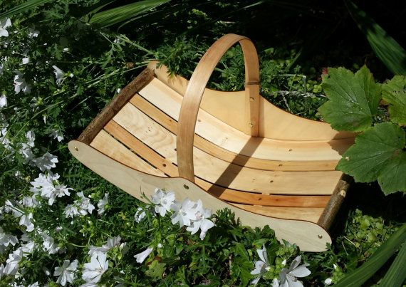 Welsh Market Trug country baskets easter by CottageCoppicing