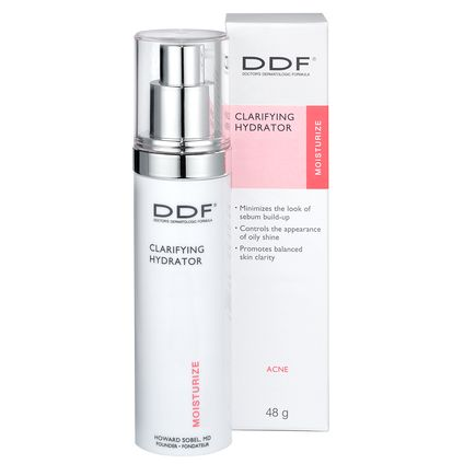 DDF CLARIFYING HYDRATOR  Provides perfectly balanced light hydration for consistent skin clarity. Contains the Clarifying Neutralizing Complex, that minimizes the look of sebum build-up on skin's surface to control the appearance of oily shine.  ===== #totry