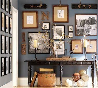 Dekorationidee für eine elegante Konsole oder Beistelltisch im Foyer oder Wohnzimmer