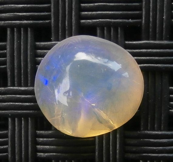 Round purple and blue crystal opal cabochon from by AllAussieOpals
