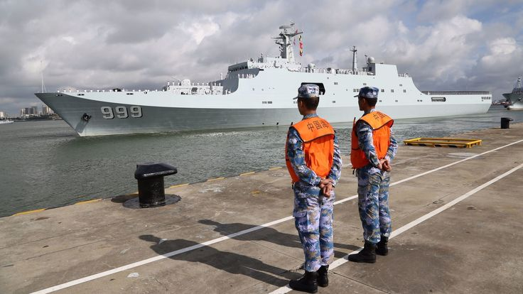 China on Tuesday dispatched members of its People's Liberation Army to the Horn of Africa nation of Djibouti to man the rising Asian giant's first overseas military base