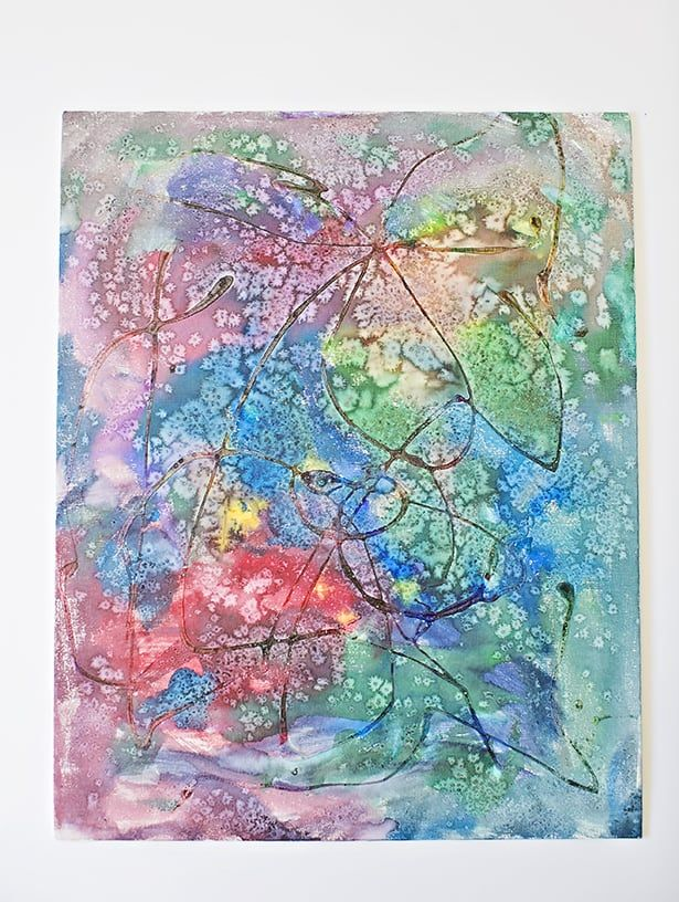 Watercolor Salt And Glue Painting With Kids Watercolor Art