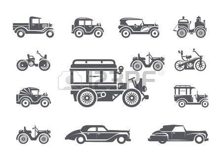 Veterán autók. Ikonok beállítása photo
