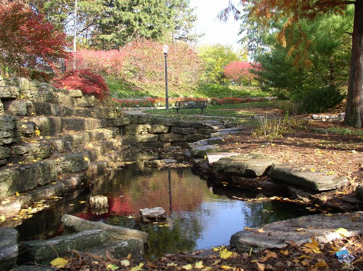Pond At A Rock Garden Near Lake Decatur IL I Adore The Natural
