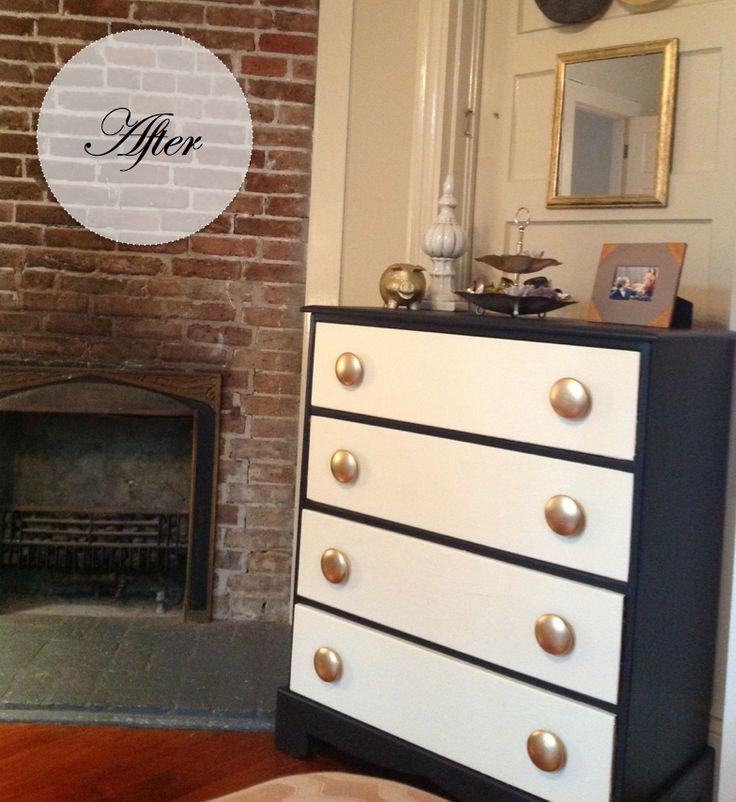 1000 images about black and white dressers on pinterest vintage dressers blackboard paint. Black Bedroom Furniture Sets. Home Design Ideas