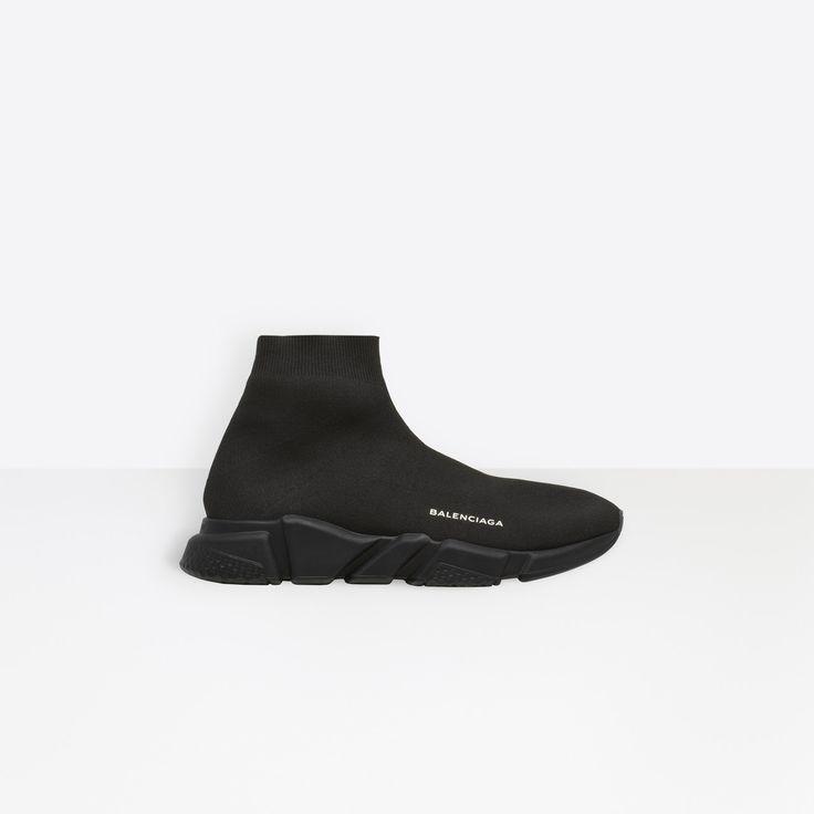 Balenciaga Knit Sock Speed Trainers Sneaker All Black