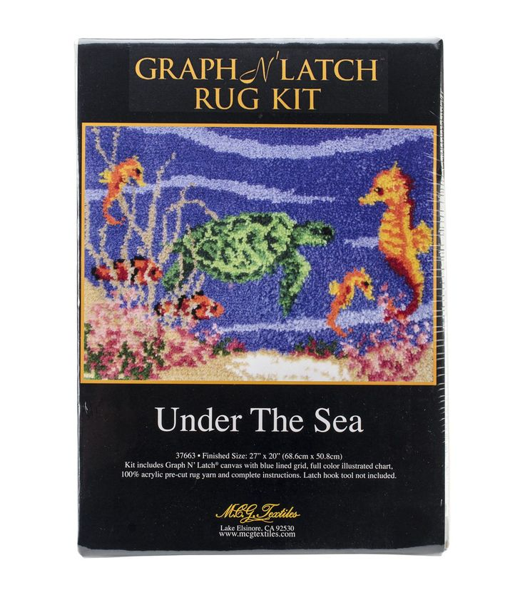 Latch Hook Kit 27 Quot X20 Quot Under The Sea Under The Sea The