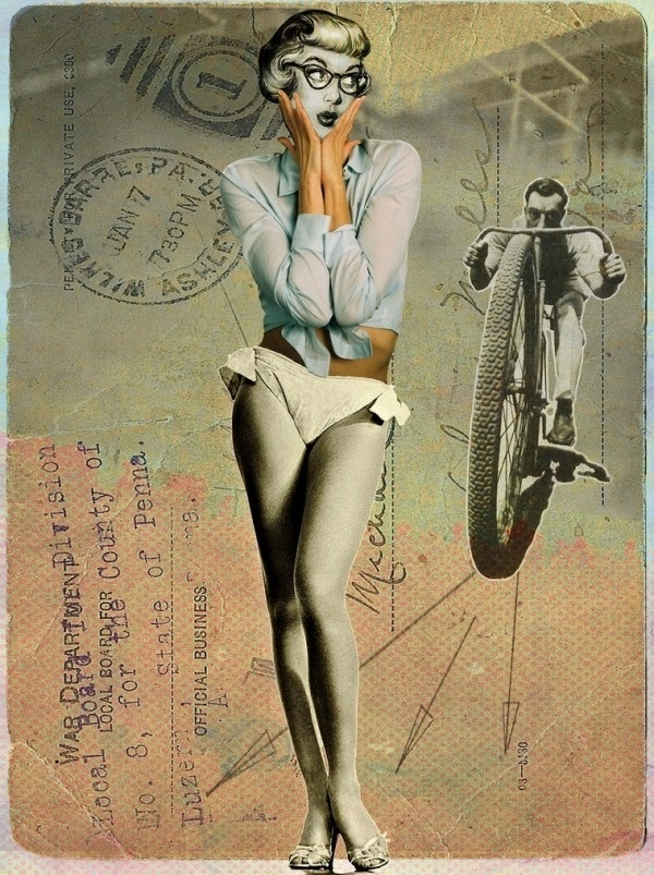 Franz Falckenhaus Mixed Media Collages