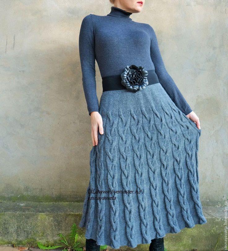Купить Юбка вязаная Англичанка - юбка вязаная, вязаная юбка, платье вязаное, вязаное платье