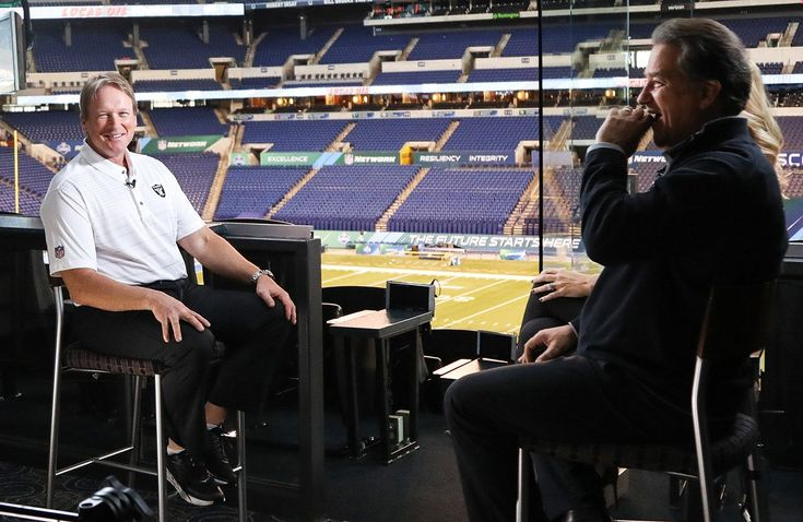 Head Coach Jon Gruden Sits Down With NFL Network At Combine