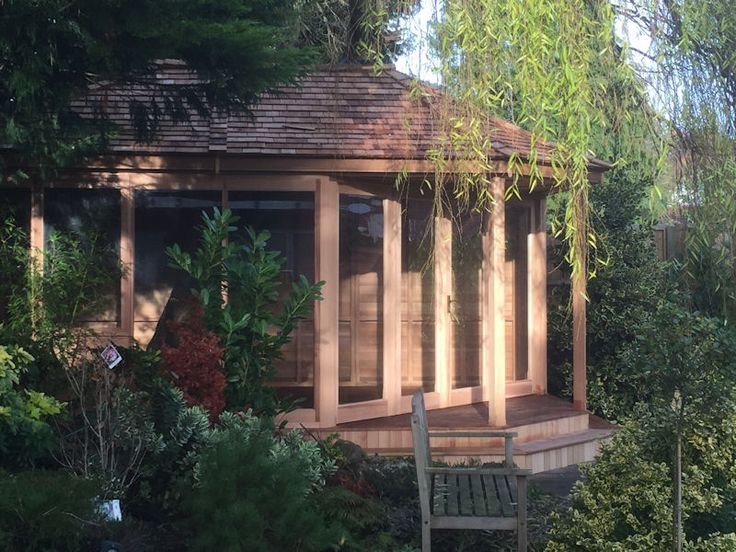 4m x 3.3m Cedar summerhouse with Bi-fold doors
