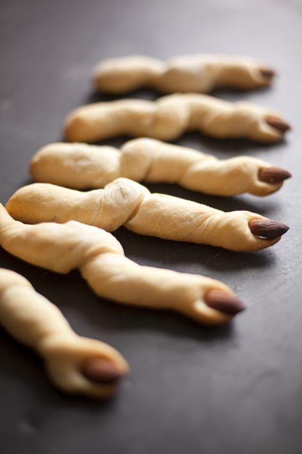 These breadsticks would be kinda cool to make for Halloween.   25 Family-Friendly Halloween Traditions!