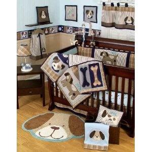 Sumersault Puppy Crib Bedding
