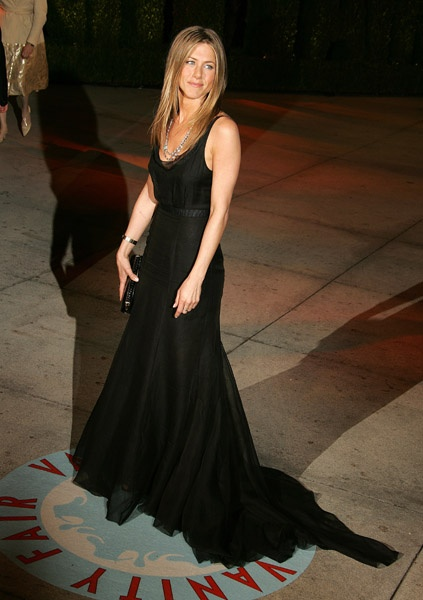 in a beautiful classy black gown