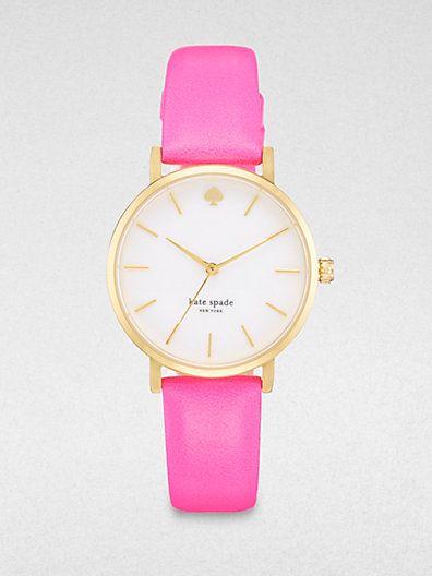 Kate Spade Metro Goldtone Strap Watch/Pink