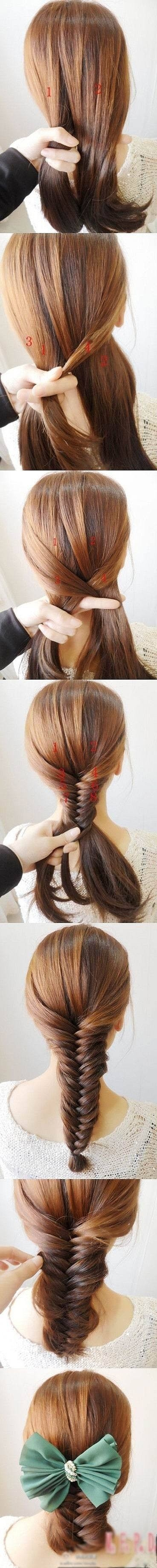 fishtail braid DIY of course I found something showing me how to do it now that I chopped all my hair off.