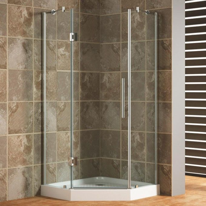 "Review 36"" x 36"" Frameless Neo Angle Corner Shower Enclosure Top Design - Minimalist bathtub glass enclosure New"