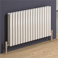 reina radiators > neva horizontal double radiator (white). 413x550mm. - taps4less.com - #radiator #bathroom