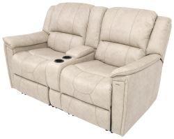 Thomas Payne RV Dual Reclining Sofa w/ Center Console - Grantland Doeskin