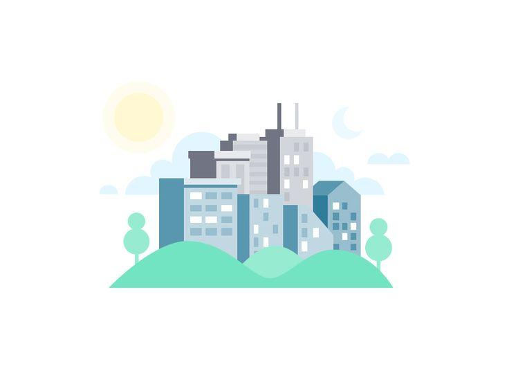 Skyline by Scott Tusk #Design Popular #Dribbble #shots