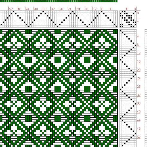 Hand Weaving Draft: Feb 1952 No. 16, Master Weaver, 8S, 8T - Handweaving.net Hand Weaving and Draft Archive