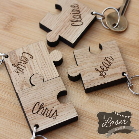 Laser Cut Engraved Wooden Set Of 4 Jigsaw By Thelaserboutique Wood Pinterest Cutting Engraving And
