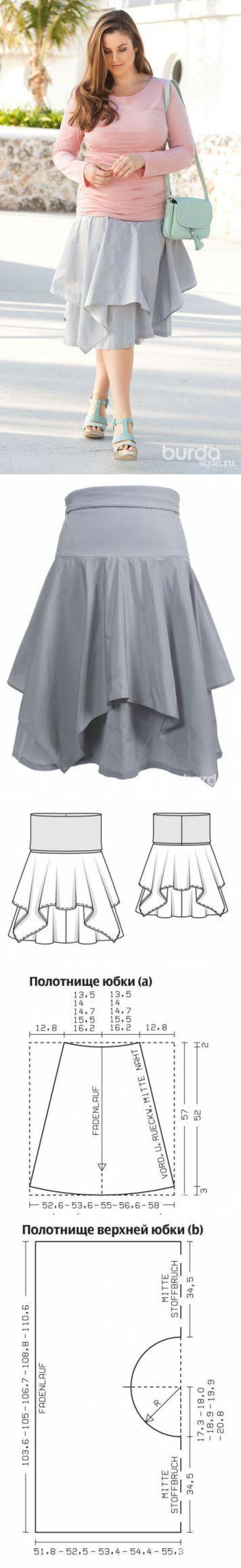 Выкройка юбки для полных / BurdaStyle: мастер-классы   Шитьё   Постила