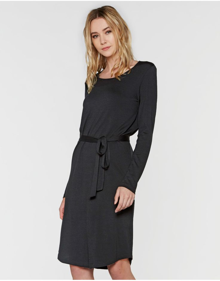 Undercover Merino Dress - Storm Women's Clothing