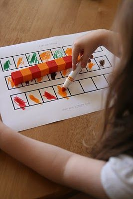 Patterning activity -- use legos for pattern (great idea, @Ellen Page Page Page Page Smith!)