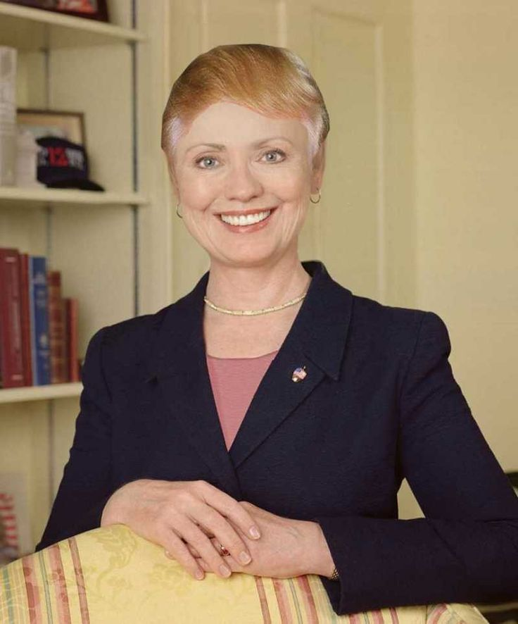 Hillary With Donald Trump's Hair!