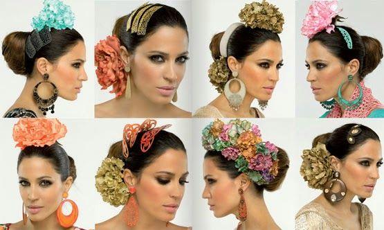 Complementos de flamenca El Corte Inglés 2014 flores, peinetas, pendientes