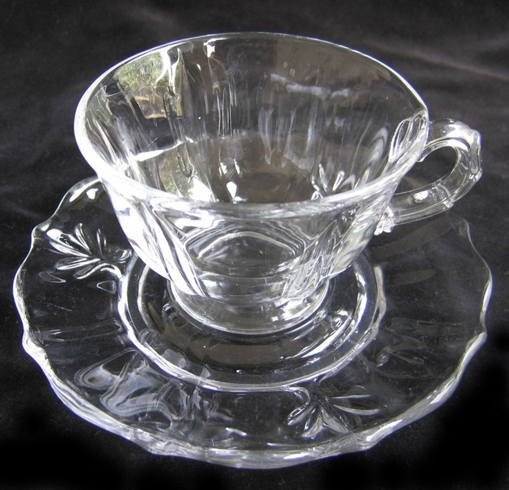 1000 images about depression glass fostoria on for Clear baroque glass