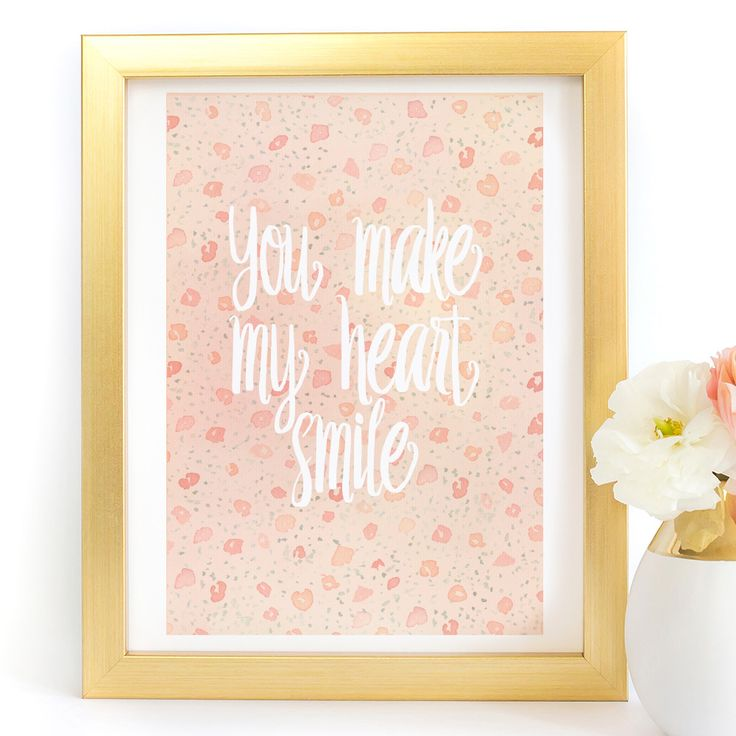 """You Make My Heart Smile"""" Typography Art Print - Paper Ponies Boutique"""