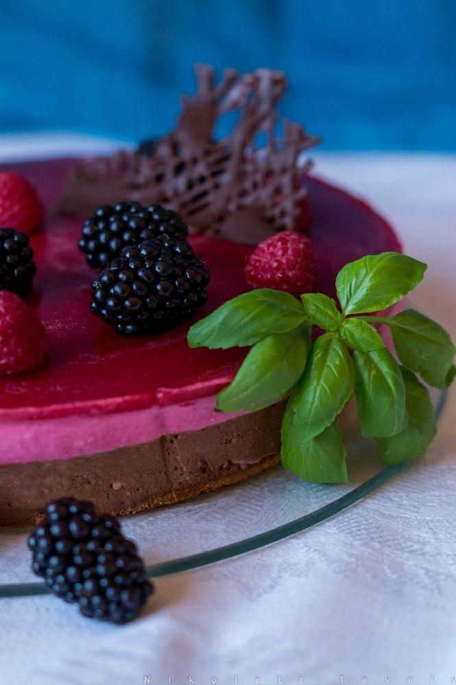 Csoki-málna mousse torta