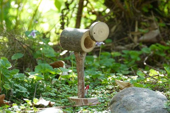 Fairy Garden Accessory Minature Rustic Wooden by Smallhavens