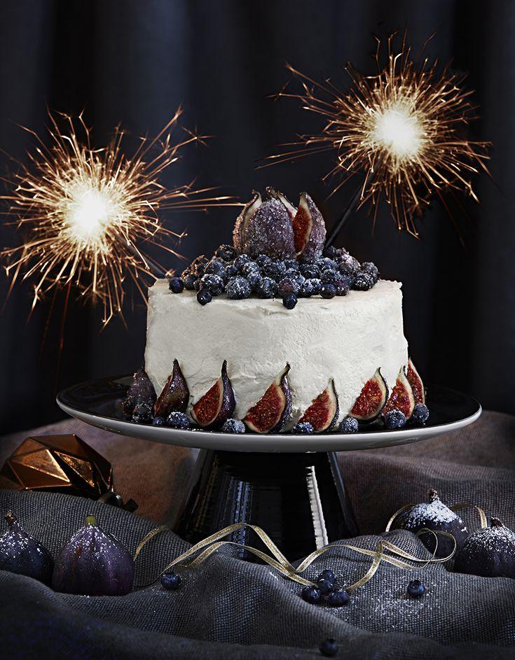 nyårsdessert recept tårta